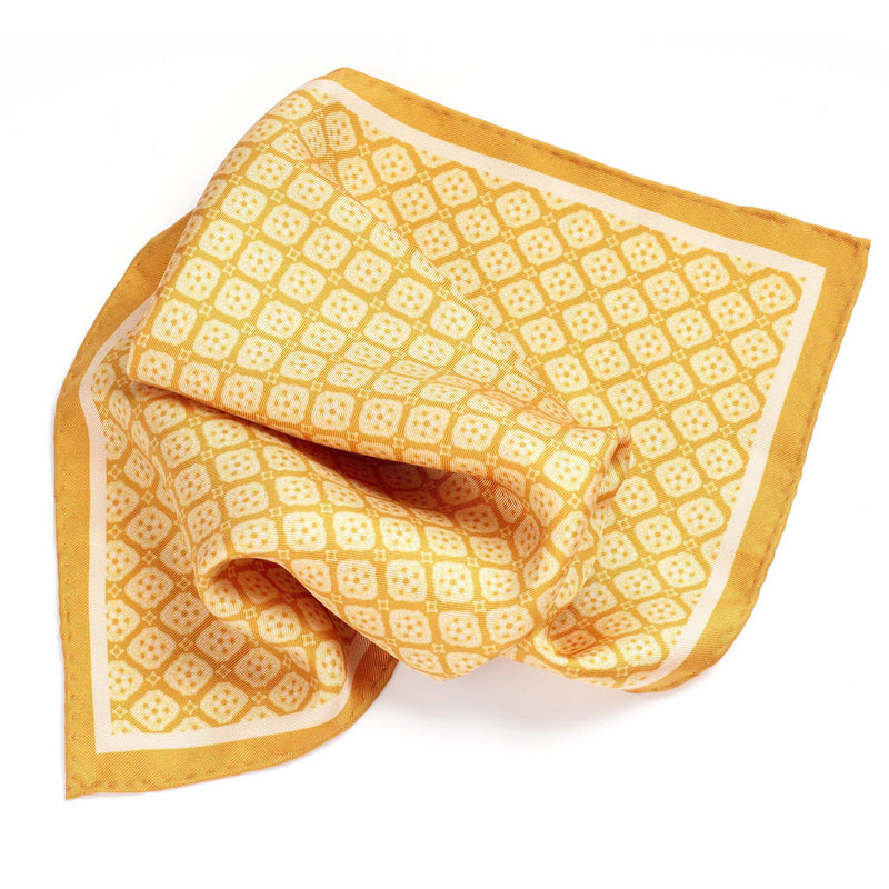 Tuscan Sunshine Silk Pocket Square - Alexandra Wood