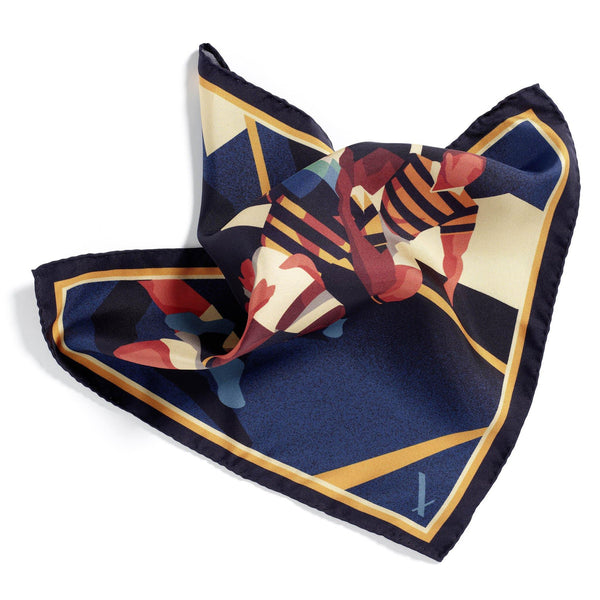 Scrumaliscous Limited Edition silk pocket square - Alexandra Wood