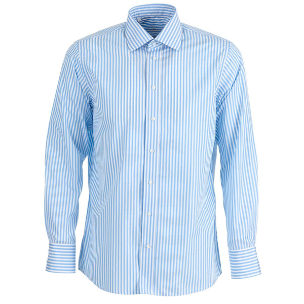 Santorini stripe blue shirt - Alexandra Wood