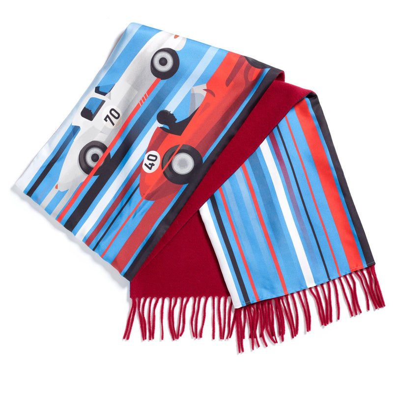 Speed Demon silk/lamsbwool scarf - Alexandra Wood