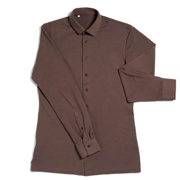 Pique de chocolat tailored cotton shirt - Alexandra Wood
