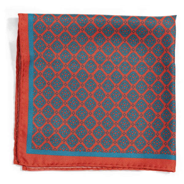 Sicilian Village silk pocket square - Alexandra Wood