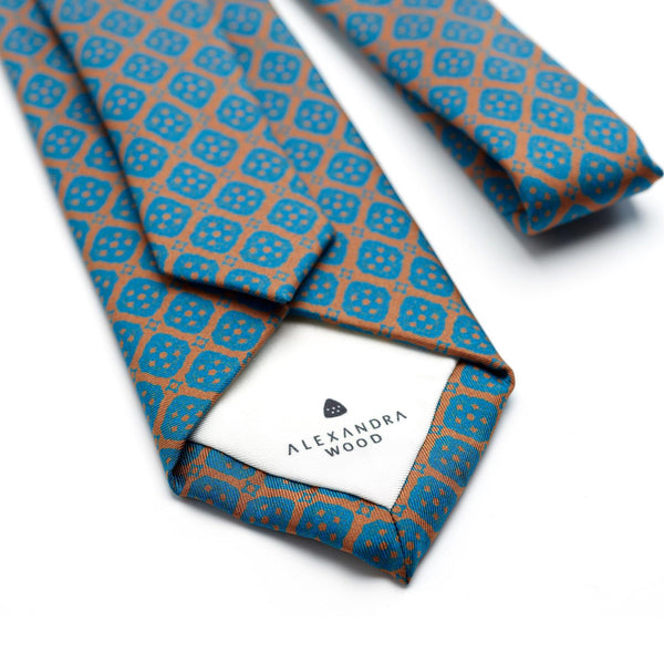 Sienna Sunshine luxury silk tie - Alexandra Wood