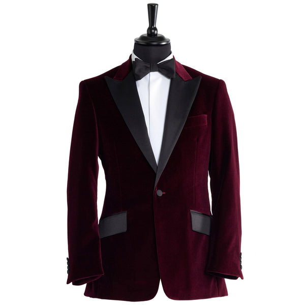 The Classic her Burgundy Smoking jacket - Alexandra Wood