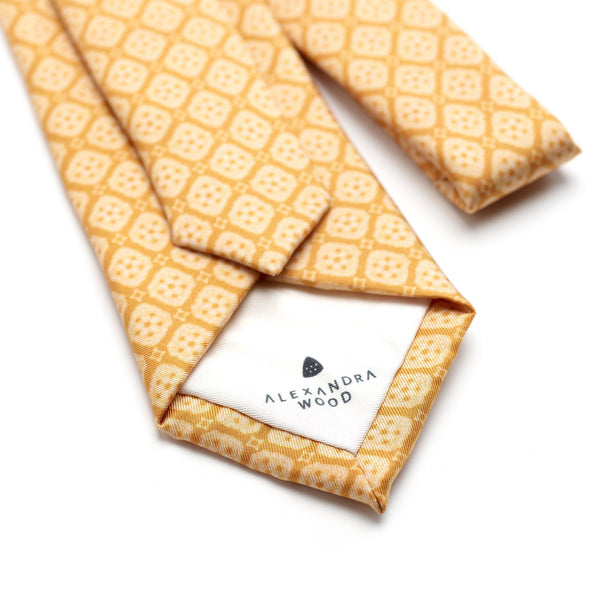 Tuscan Sunshine luxury silk tie - Alexandra Wood