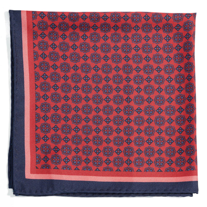 Umbrian Sunset Silk Pocket Square - Alexandra Wood