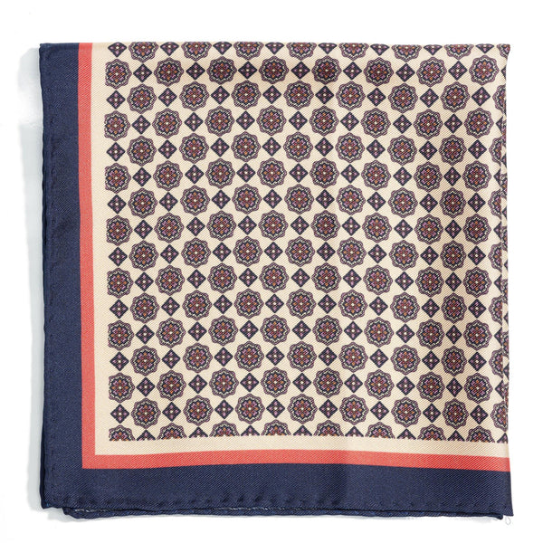Venetian Haze Silk Pocket Square - Alexandra Wood