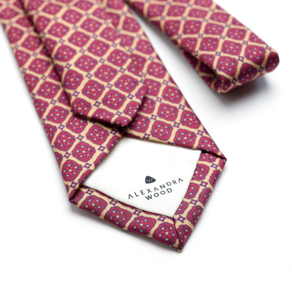Venetian Square luxury silk tie - Alexandra Wood