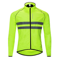 WOSAWE Thin Hooded Caps Reflective Running Jackets Windproof Water Rain Repellent Cycling Windbreaker Coat Bike Sports Jackets