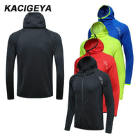 Men Sports Jacket New Hoodie Gym Soccer Training Workout Long Sleeves Brand Sweatshirts Run Jogging Zipper Coat