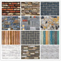 Home Decor 3D PVC Wood Grain Wall Stickers Paper Brick Stone wallpaper Rustic Effect Self-adhesive Home Decor Sticker Room