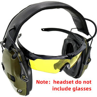 Tactical electronic shooting earmuffs sight sponge ear pads anti-noise amplification hunting hearing protection headphones