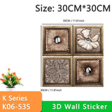 3D Wallpaper DIY Marble Sticker 70cm*77cm Waterproof Wall Stickers 3d wall panels for living room 3D Brick Stone Wall Papers