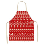 Linen Merry Christmas Apron Christmas Decorations for Home Kitchen Accessories Natal Navidad 2020 New Year Christmas Gifts
