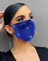 2020 Fashion Sparkly Rhinestone Mask Elastic Reusable Washable Bling Mask For Face With Rhinestone Decoration Face Jewelry