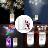 Christmas Projection Lamp Snowflake Tree 2020 Christmas Decor For Home Merry Christmas Ornament Xmas Natal Happy New Year 2021