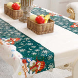 180*35cm Christmas Table Runner Ornaments Christmas Decorations for Home New Year 2021 Noel Natal Party Table Flags Navidad 2020