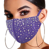 2020 Bohemia New Design Bling Rhinestone Long Tassel Mask Face Mask Jewelry for Women Luxury Crystal Decoration Face Jewelry