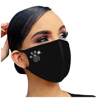 Diamond Mask Women Adult Fashion Designer Letter Blessed Printed Reusable Decoration For Face Masks Masque Coton Reutilisabl