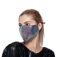 2020 New Luxury  Black Mesh Veil Rhinestone Jewelry Mask for Women Bling Crystal Decoration Mask Prom Party Face Jewelry