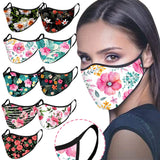 Floral Mask Adult Fashion Designer Printed Reusable Fabric Facemask cloth Decoration For Face Masks Masque Coton Reutilisable