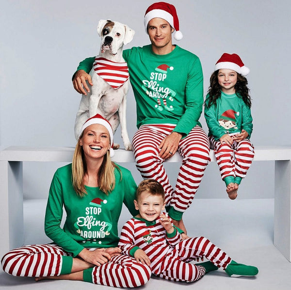 2020 Family Christmas Pajamas Set Family Matching Clothes Xmas Family Look Clothes Adult Kids Pajamas set Baby Romper Sleepwear
