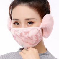 adult lace sexy winter Plush with ears bandana For Women Vintage Crystal Charming Popular 2020 Gift fashion face scarf