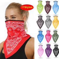 17 Style Men Women Face Scarf Bandana Ear  Face Balaclava Neck Gaiters Digital Printed Windproof Thin Wrap Scarf