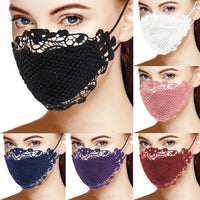 Women Delicate Lace Mask Masque Washable and Reusable Mouth Face Mask Facemask Headband Mascarillas Fabric Mask Face Cover