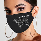 New crystal masquerade mask ladies party hot diamond rhinestone butterfly decoration mask women