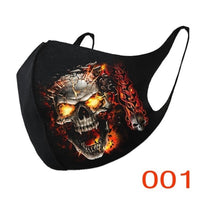 Halloween sexy skull pattern hot scarf diamond rhinestone decoration warm accessories cover women 2020 in stock