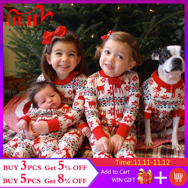 2020 Family Christmas Pajamas Mommy And Daughter Matching Clothes Set Father Mother Family Look For Baby child Sleepwear Outfits