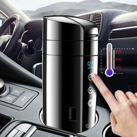Home Car Electric Cup Insulation Mug Intelligent Boiling Coffee Leakproof Water Heating Digital Display Universal Kettle 12V 24V