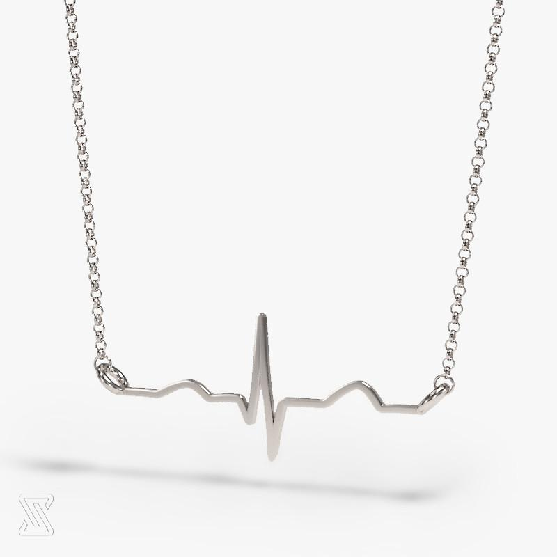 SCIENCE JEWELRY | Silfurhálsmen | Heartbeat