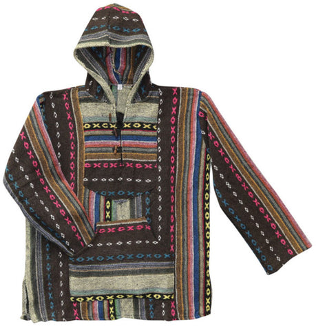 Multicolored Cotton Baja Hoodie Jacket | Clothing