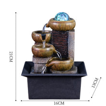 Load image into Gallery viewer, Water Fountain Portable Tabletop Waterfall