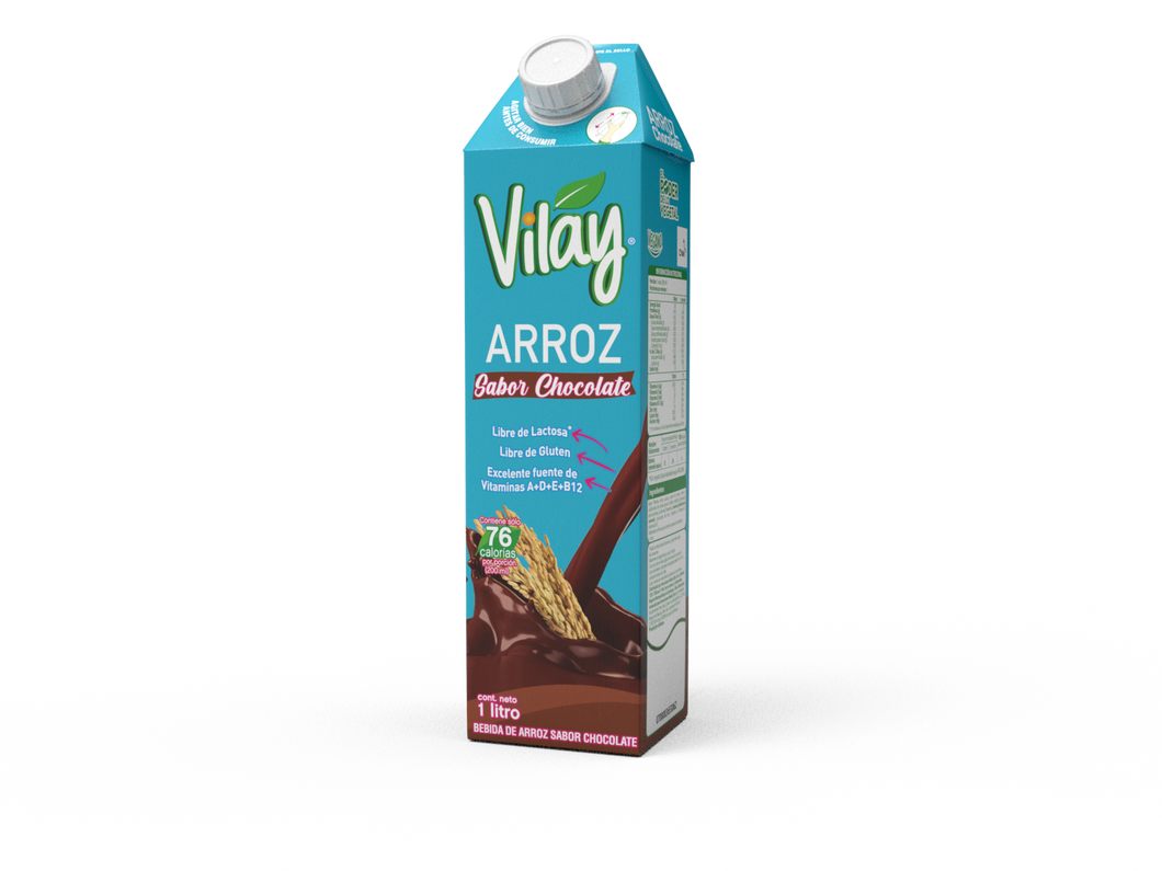 BEBIDA VEGETAL  ARROZ CHOCOLATE 1 LT. - VILAY