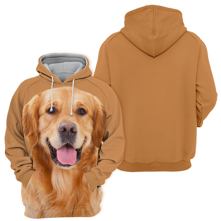 Unisex 3D Graphic Hoodies Animals Dogs Golden Retriever Adorable