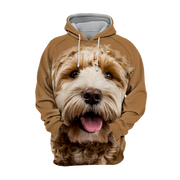 Unisex 3D Graphic Hoodies Animals Dogs Labradoodle Goldendoodle Smile