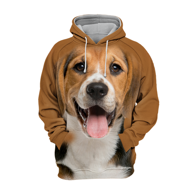 Unisex 3D Graphic Hoodies Animals Dogs Beagle Happy