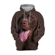 Unisex 3D Graphic Hoodies Animals Dogs German Shorthaired Pointer Happy