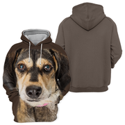 Unisex 3D Graphic Hoodies Animals Dogs Crossbreed Brown Dog Cute