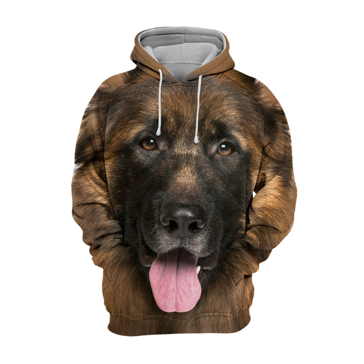 Unisex 3D Graphic Hoodies Animals Dogs German Shepherd Smile