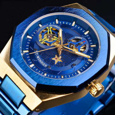 Luxury Military Skeleton Mechanical Watch