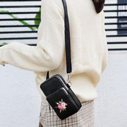 Large Capacity Embroidered Phone Bag Crossbody Bag