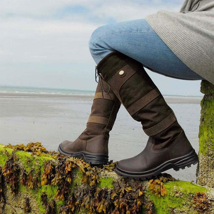 Women's Waterproof Long Outdoor Country Boots