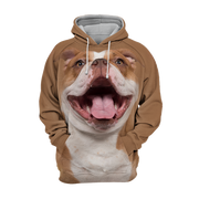 Unisex 3D Graphic Hoodies Animals Dogs English Bulldog Laugh