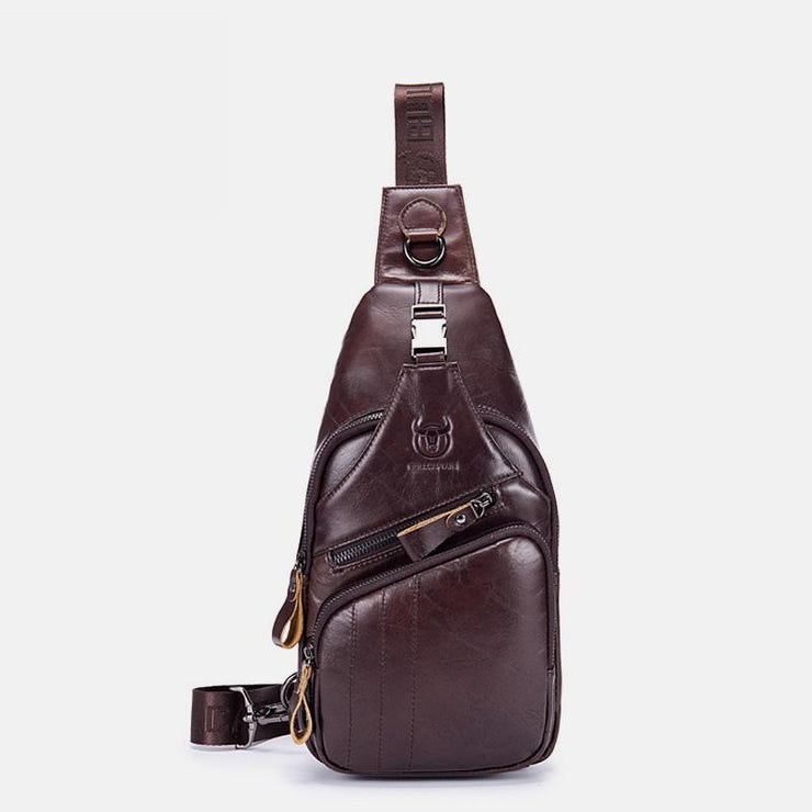 Genuine Leather Vintage Multifunction Sling Bag