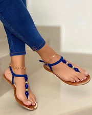 Pearl Embellished Thong Sandals