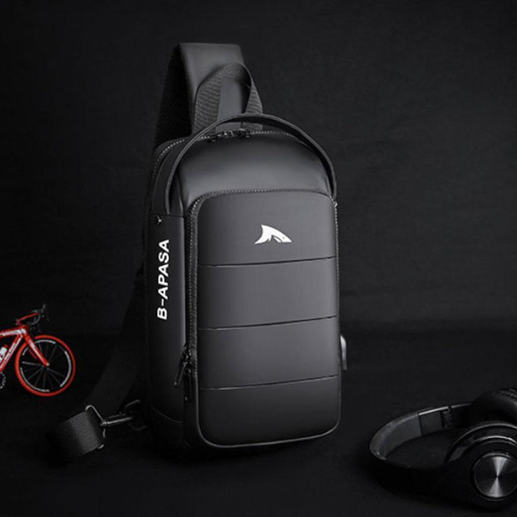 Stylish Waterproof Sling Bag With USB Charging Port